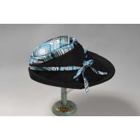 個性的でクラシカルラインのつば広帽子 レディース オールシーズン クラシカル ポリエステル素材