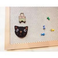 マグネットとプッシュピンの両方が使える 木製のボードです。  サイズ:W450×D15×H600[単...