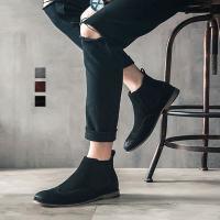 ショートブーツ メンズ 靴 サイドゴアブーツ カジュアルシューズ 無地 大きいサイズ 紳士靴 全3色...