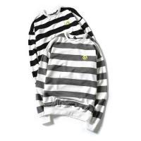 Tシャツ メンズ 春 長袖 トップス 丸首 Tシャツ カットソー コットン ボーダー柄 かっこいい ...