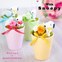 スヌーピー × プリザーブドフラワー 花 誕生日  SNOOPY 結婚祝い ブリザードフラワー 退職祝い ギフト プレゼント 送料無料