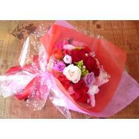 プリザーブドフラワーでは珍しい豪華なブーケ(花束)です。  【使用花材】 ・プリザーブドローズ 花径...