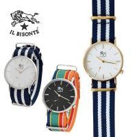 ストライプベルト リストウォッチ 腕時計  コメント ストライプ柄のベルトが涼しげな印象のイルビゾン...