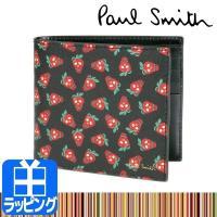 """Paul Smith ポールスミス """"Strawberry Skulls""""プリント二つ折り財布 スト..."""