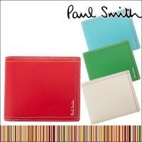 ポール・スミス 正規品 財布 二つ折り財布(小銭入れあり) メンズ 革製 レザー PSK707 P7...