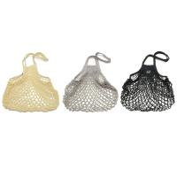 FILTフィルト フランス製ネットバッグ Mサイズロング モノクロ【北欧 コットン 綿 メッシュ エコバッグ お買物 トート 野菜袋 おしゃれ】