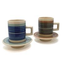 岐阜県の飛び鉋(トビカンナ)という技法にて作られたカップ&ソーサーです。   福岡の小石原焼、大分の...