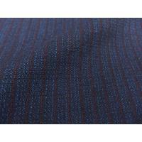 日本製 二重織ウール丹前 業務用 男性用 No.24 紺縞 帯付き