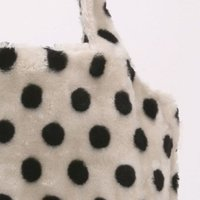 ★NEW★  【ROOTOTE】 ルートート ROUND SY  Fur-D  Dot-wht