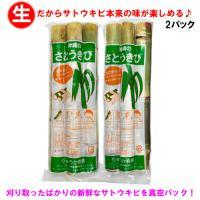 【送料無料】沖縄県産 生さとうきび(サトウキビ) 食用 400gパック×2