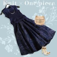 裾のフリルが大人可愛いニットベストと、ふわりと広がるフラワー柄スカートのセットアップ。 スカートはキ...