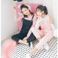 ズボン パンツ サロペット 長ズボン ティーンズファッション 中学生 女子 私服 ファッション 夏 春 かわいい おしゃれ 韓国 レディース