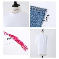 MSGM エムエスジーエム MDM103 デニムポケット 半袖 クルーネック Tシャツ カットソー ポケT カラー01/ホワイト他 レディース