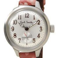 信頼の日本製 ポールスミス 腕時計 BB5-312-90 シルバー/レッドレザー クォーツ レディー...