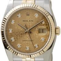 ロレックス 腕時計 デイトジャスト ゴールドホリコンピューター 116233G メンズ ウォッチ R...