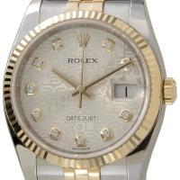 ロレックス 腕時計 デイトジャスト シルバーホリコンピューター 116233G メンズ ウォッチ R...