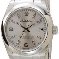 ROLEX ロレックス オイスターパーペチュアル 177200SV-AR-PK ボーイズ シルバー ...