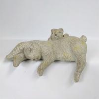 ガーデニング雑貨 オブジェ オーナメント ウサギ  木彫りのようなレジン製のウサギのオーナメント  ...
