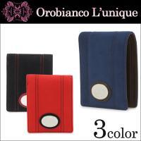 柔らかな風合いのウルトラスエードを使用した二つ折り財布。前面に大振りなメタルプレートを配し存在感を高...
