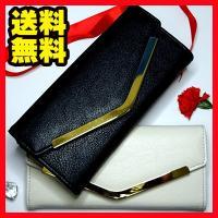 【詳細】   人気のV字プレートを使用したかぶせタイプの長財布です。  大きなプレートがボディカラー...