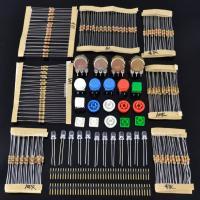 Arduinoやラズベリーパイ等での実験に便利な電子部品セット (抵抗 半固定抵抗、LED、スイッチ...