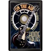 ブリキ看板 アンティーク ロック ギター ライブ アメリカ雑貨 / ON THE AIR