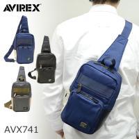 斜めがけでもワンショルダーでもサマになるAVIREX(アヴィレックス)のボディバッグ。 財布やスマホ...