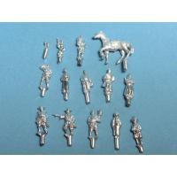 オーロラモデル社製 未塗装キット 1/144〜1/150サイズ  江戸時代の人々 Set C Ht-...
