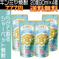 キンミヤ焼酎 シャリキンパウチ 20度 90g×4本 金宮焼酎 宮崎本店