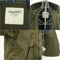 アバクロ Abercrombie & Fitch 送料無料 ミリタリージャケット ジャケット アウター カジュアルジャケット メンズ オリーブグリーン S size 正規品