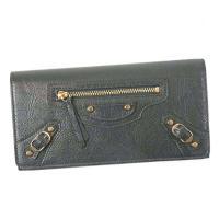 バレンシアガのフラップトップ&スナップオープニングの二つ折り長財布です。オシャレなデザインで、しかも...