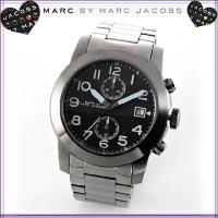 ■商品名:マークバイマークジェイコブス ミリタリーテイストのガンメタルクロノグラフ メンズ腕時計 ■...