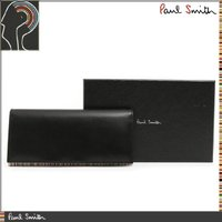 ■商品名:ポールスミス ブラック×マルチストライプレザー長財布 ■素 材:レザー ■サイズ(約):W...