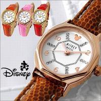 【ゆうパケ可】【disney_y】  商品名:ミッキー 八角形 レディース 腕時計 本牛革 リザード...
