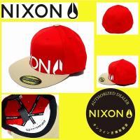 キャップ メンズ レディース NIXON ニクソン キャップ HAT LOCKUP 210/RED/TAN フリーサイズ NC21561998