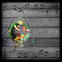 ココペリ ステンドグラス ガラス細工 ガラスアート ココペリ ハンドメイド ディスプレイ インテリア...