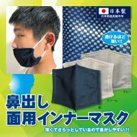 剣道 【鼻出し】面用インナーマスク テトニット素材 日本剣道具製作所製(紺・クリーム・グレー)