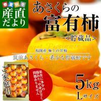 福岡県JA筑前あさくらより産地直送します。  名称:富有柿 内容量:5キロ(20玉前後) 原産地:福...