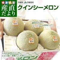 東京・大田市場より発送します。  名称:メロン(クインシーメロン) 原産地:茨城県 内容量:5キロ箱...