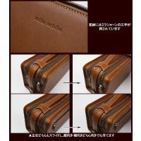 セカンドバッグ メンズ 本革 日本製 ミラ・ショーン mila schon メンズWファスナーセカンドバッグ  トレノ  299202