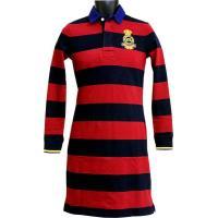 ■商品説明■  ラガーシャツタイプのおしゃれな長袖ワンピースです!  胸のエンブレムロゴも素敵!  ...