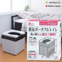 日本製 介護の現場や災害時、活躍できる組み立てが簡単なトイレです。本体を広げて便座を乗せるだけの簡単...