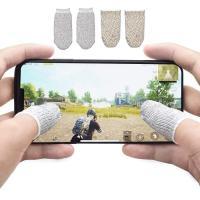 荒野行動 PUBG Mobile スマホゲーム 手汗対策 超薄 銀繊維 4個入り 指カバー 反応早い 指サック 操作性アップ 携帯ゲーム iPhone/Android/iPad スマホ対応 定番