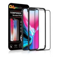OAproda iPhone X iPhone XS 全面保護フィルム  ブラック(黒) 定番