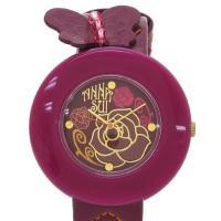 パープルカラーがとっても可愛いアナスイのレディース時計が入荷しました☆ ラウンド型ケース、バラデザイ...