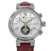 ルイヴィトンの代表的な時計「タンブール」。こちらはダイアルにシェル、12Pのインデックスダイヤ、ラグ...