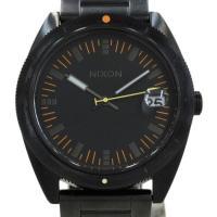 ブラックカラーで統一されたクールな1本!ニクソン・メンズ時計が入荷しました☆ ラウンド型ケース、黒文...