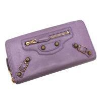 人気のバッグデザインがそのままお財布に♪バレンシアガの長財布のご紹介です。女性らしい淡いパープルカラ...