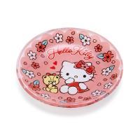 ハローキティ ガラス豆皿(桜) ピンク