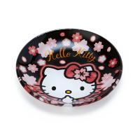 ハローキティ ガラス豆皿(桜) ブラック